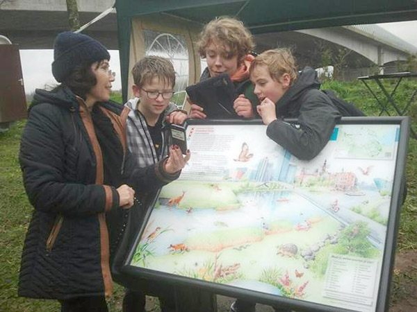 Informatiepaneel Faunapassages Amsterdam