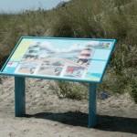 informatiepaneel Rijkswaterstaat Zuidpier IJmuiden