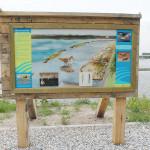 Informatiepaneel Rijkswaterstaat, natuur Noordzeekanaal